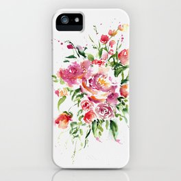 Abstract Bouquet in watercolor iPhone Case