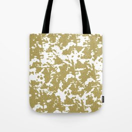 Modern abstract white gold glitter marble pattern Tote Bag