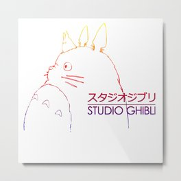 Ghibli inspered Metal Print