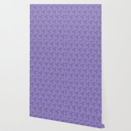 Periwinkle Victorian Lace Wallpaper