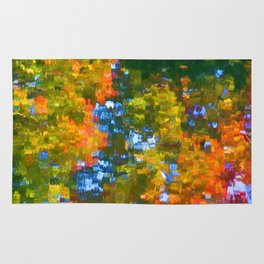 Fall leaves on river 7 Rug
