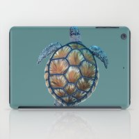 sea turtle iPad Cases featuring Turtle by Elise Cayouette