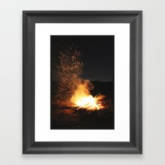 Fire Dance Framed Art Print