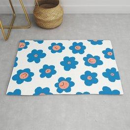 Daisy Flower Pattern Rug