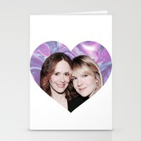 sarah paulson Stationery Cards featuring Sarah Paulson and Lily Rabe AHS Freakshow by IrasHorrorStory