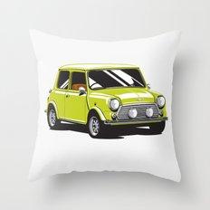 Mini Cooper Car - Chartreuse Throw Pillow