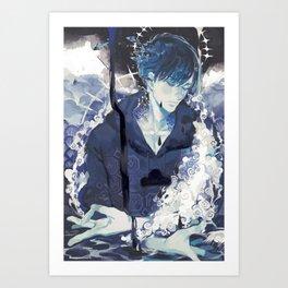 Deep in the Blue Art Print