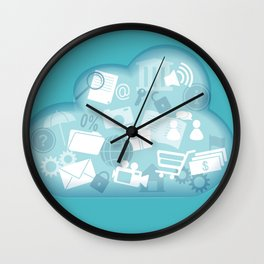 cloud technology Wall Clock