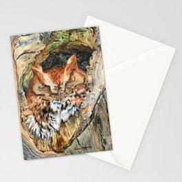 Woodland Screech by Teresa Thompson Stationery Cards