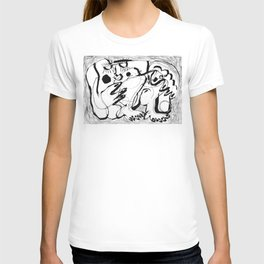 Female Nude #2 - b&w T-shirt