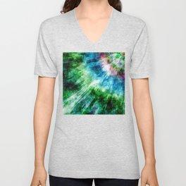 Abstract Grunge Tie Dye Unisex V-Neck