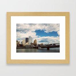 Hearts Over Pittsburgh Framed Art Print