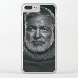 Earnest Ernest Hemingway Clear iPhone Case