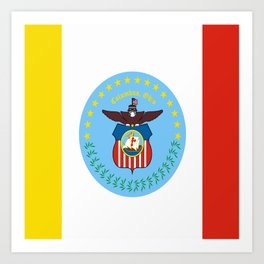 flag of Colombus Art Print
