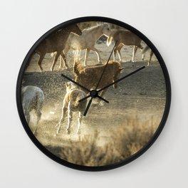 Hijinks at the Waterhole Wall Clock