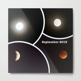 2015 Eclipse of the Red Moon Metal Print