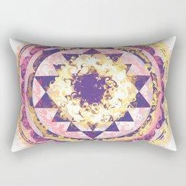 Golden Fire Sri Yantra Rectangular Pillow