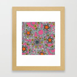cirque fleur candy orange star Framed Art Print
