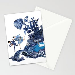 The Lovers Flee Stationery Cards