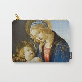 """Sandro Botticelli """"Madonna of the Book"""" Carry-All Pouch"""