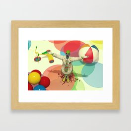 Calamity The Clown - Colorful Scary Clown Artwork Framed Art Print