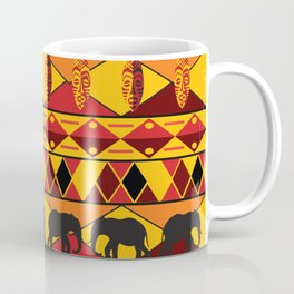 African Tribal Pattern No. 34 Coffee Mug