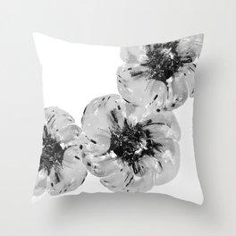 Graphic Poppy Throw Pillow