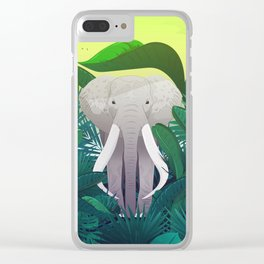 Elephant Jungle Sanctuary Clear iPhone Case