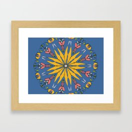 yellow floral festive design Framed Art Print