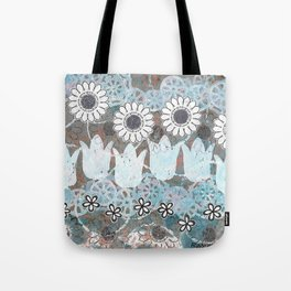 Florals in Neutral Tote Bag