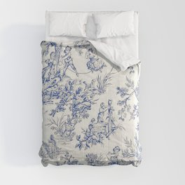 Blue French Toile Comforters