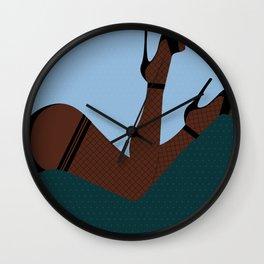 Arch + Point // Femme, Feminine, Valentine, Lingerie, Pin Up, Melanin Wall Clock