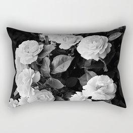 Black And White Roses Rectangular Pillow