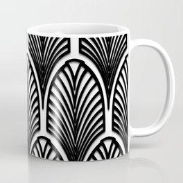 Art deco,Black and white pattern, vintage,nouveau,chic and elegant, belle époque,fan pattern Coffee Mug