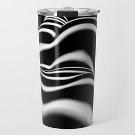 8903-SLG Sensual Nude Woman Back Shoulders Butt Erotic Curves Black & White Zebra Stripes Travel Mug