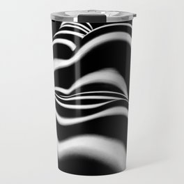 8903-SLG Sensual Nude Woman Back Shoulders Butt Erotic Curves Black & White Zebra Stripes Travel Mug