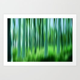 spring time in the forest Art Print
