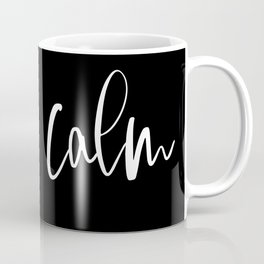 Calm (black), Home Decor, Wall Art Coffee Mug