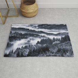 Misty Forest Mountains Rug