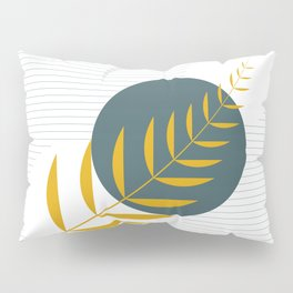 Abstract leaf and circle art  Pillow Sham
