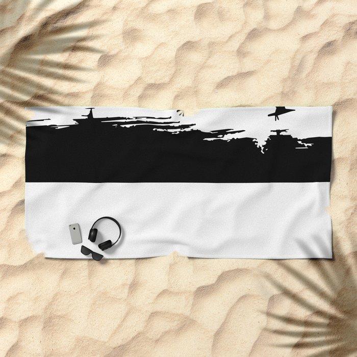 Let's fly away Beach Towel