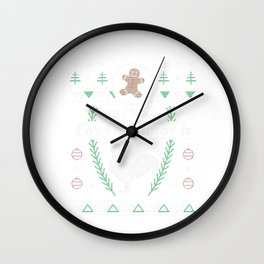Pet Rooster Christmas Ugly Shirt Wall Clock