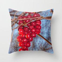 Grapes Schisandra autumn Throw Pillow