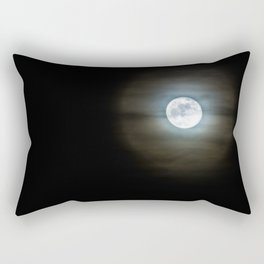 Creepy Moon Rectangular Pillow