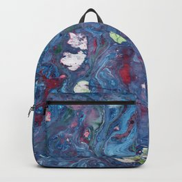 Marble art : Blue Universe Backpack