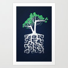 Square Root Art Print