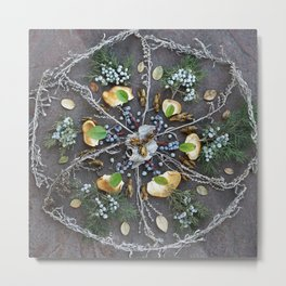 Nature Mandala: February Metal Print