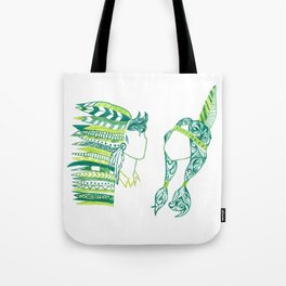 Peter Pan and Tiger Lilly Tote Bag