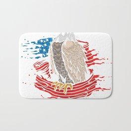 Skull with iconic Trump Hair Eagle president Flag America Tees Bath Mat