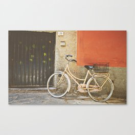 Beige Bicycle - Cinque Terre Canvas Print